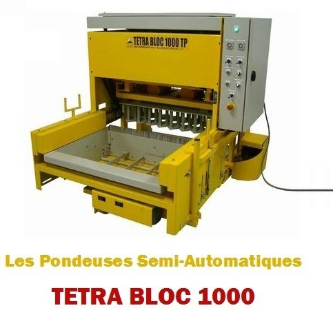 Semi-automatic block making machine